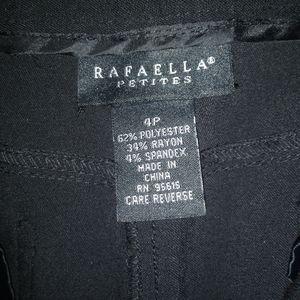Black Rafaella Petites Slacks (4P)
